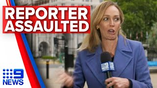 Australian reporter assaulted on live TV in London | Nine News Australia