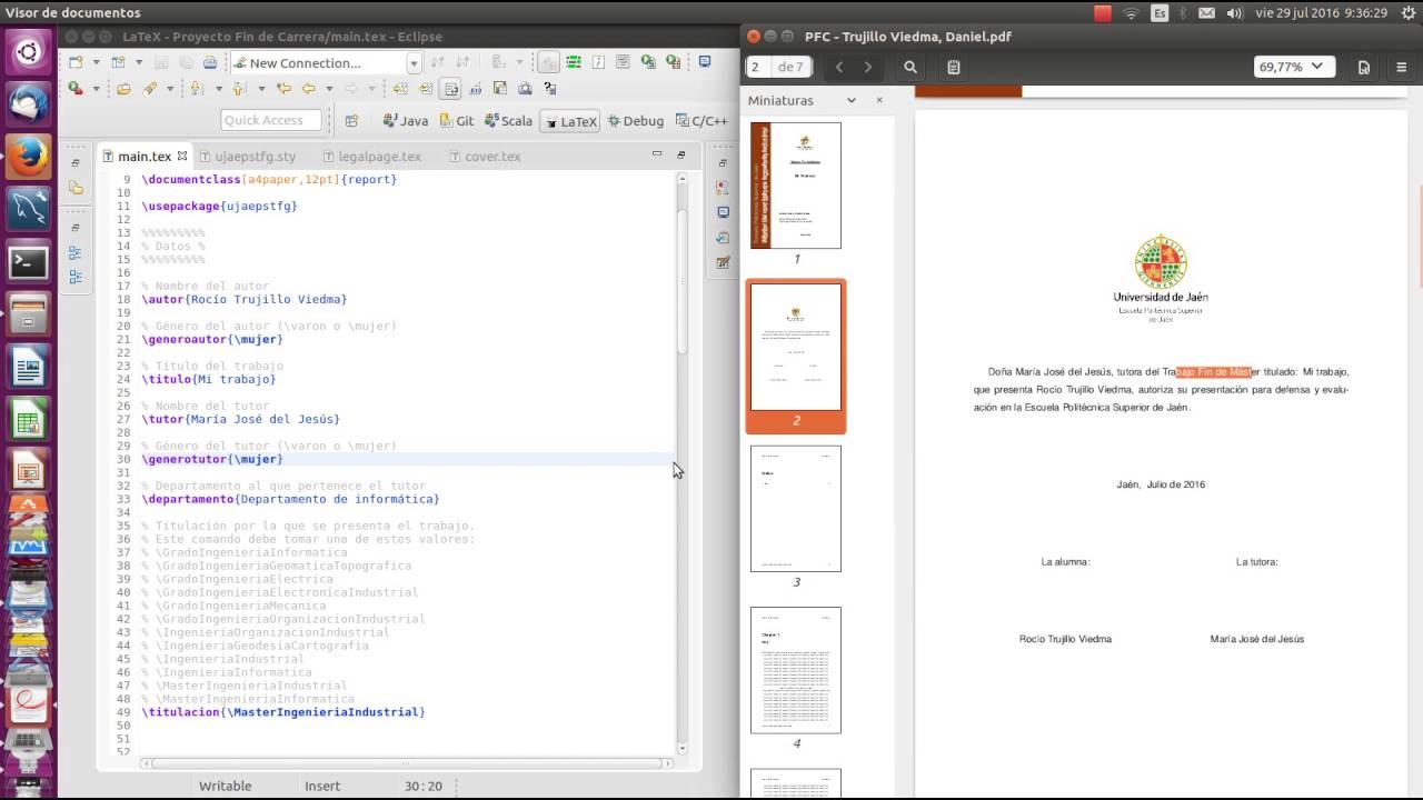 Demo plantilla LaTeX trabajos académicos EPS UJA - YouTube