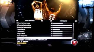 Nba 2k12 Game Settings and Sliders 1st Assessment