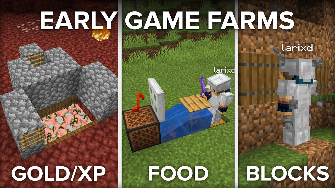 3 Farms For Your First Day in Minecraft