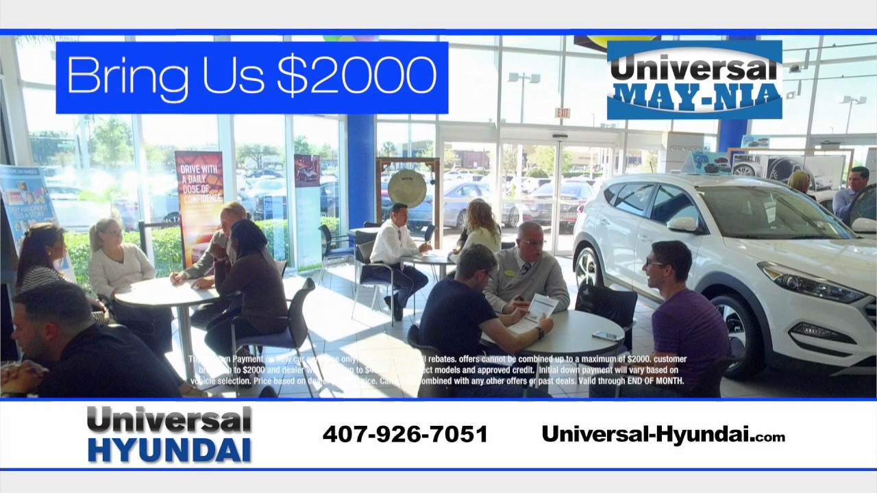 Universal Hyundai Triple Your Down Payment Youtube