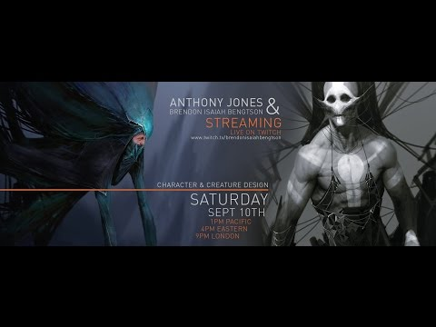 Character and Creature Design w Anthony Jones - PART 1