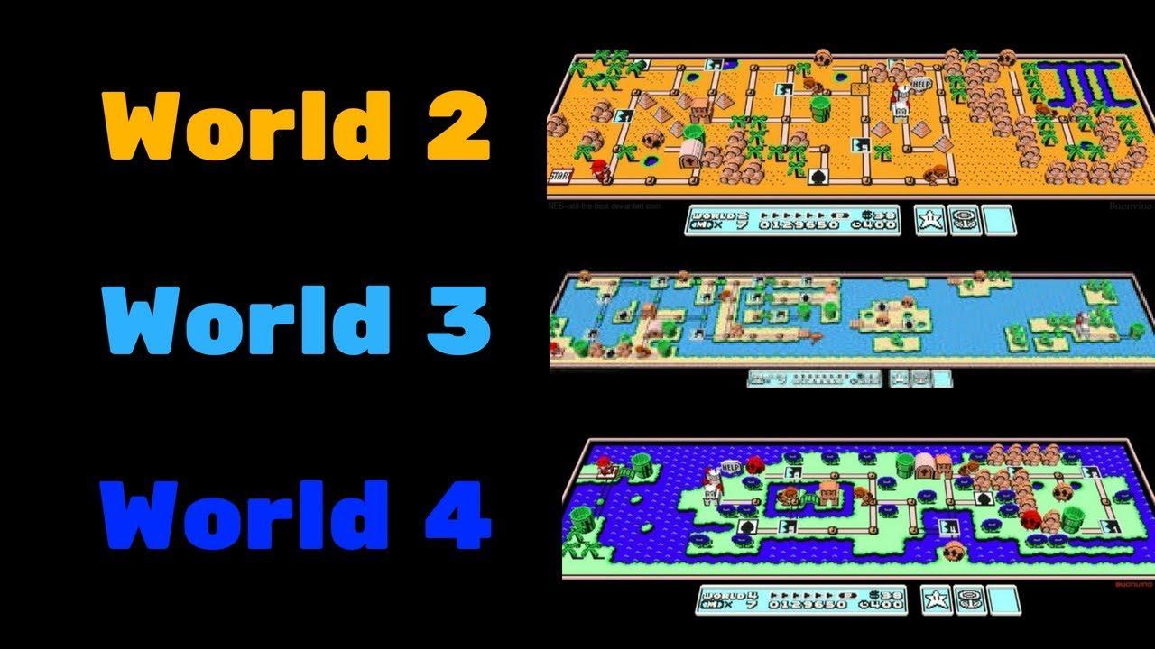 Super Mario Bros 3 Map Comparison Youtube
