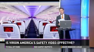 Dancing flight attendant on Virgin America