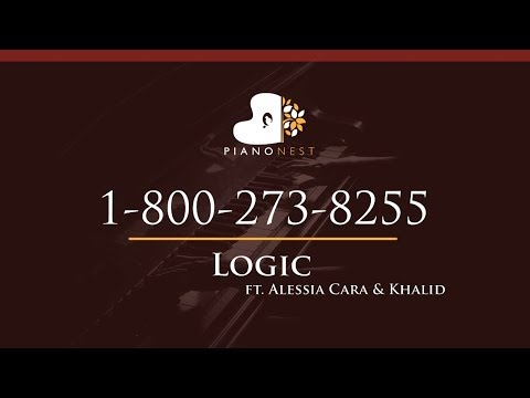 Logic - 1-800-273-8255 Ft. Alessia Cara & Khalid - HIGHER Key (Piano Karaoke / Sing Along)
