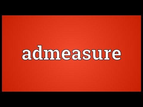 Header of admeasure