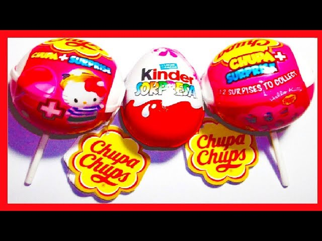 3 SORPRESAS, 2X CHUPA CHUPS HELLO KITTY Y HUEVO KINDER PRINCESAS DISNEY COLECCIÓN 2013. SURPRISE EGG Videos De Viajes