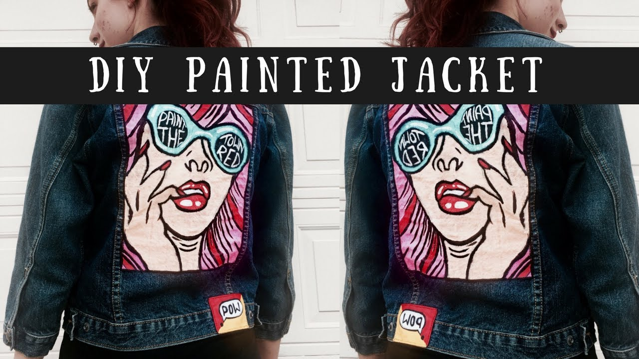 Diy Painted Jacket Pop Art Fashion Diy How To Make A