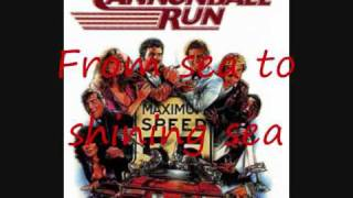 The Cannonball Run Intro song-Lyrics
