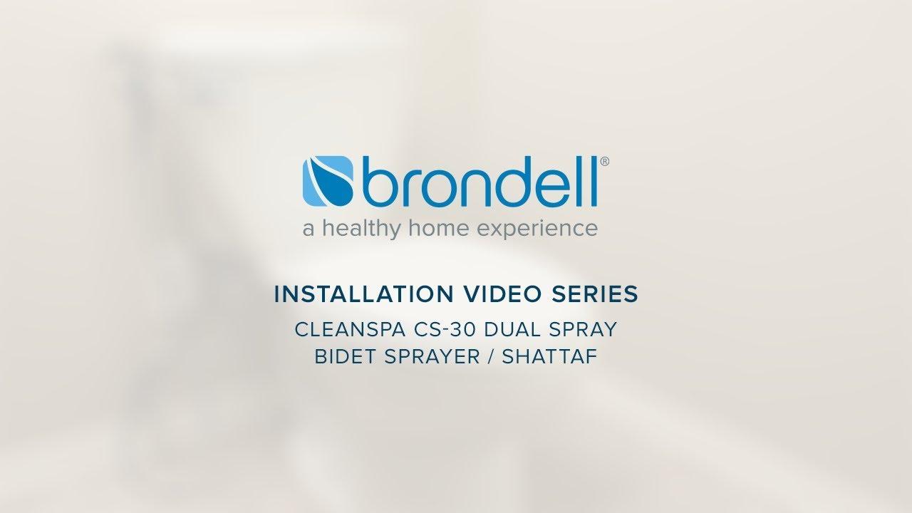 Cleanspa Bidet Sprayer Cs 30 Installation