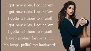 Dua Lipa NEW RULES Lyrics