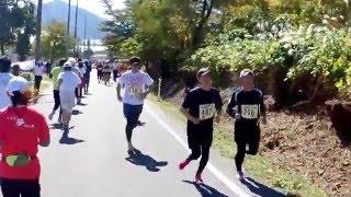 2015 蒜山高原マラソン スタート~勝山高校折返(往路)