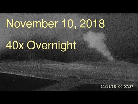 November 10, 2018 Upper Geyser Basin Overnight Streaming Camera Captures