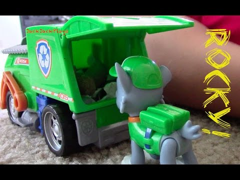 PAW PATROL Rocky Recycling Truck | Toy Garbage Truck Unboxing with JackJackPlays
