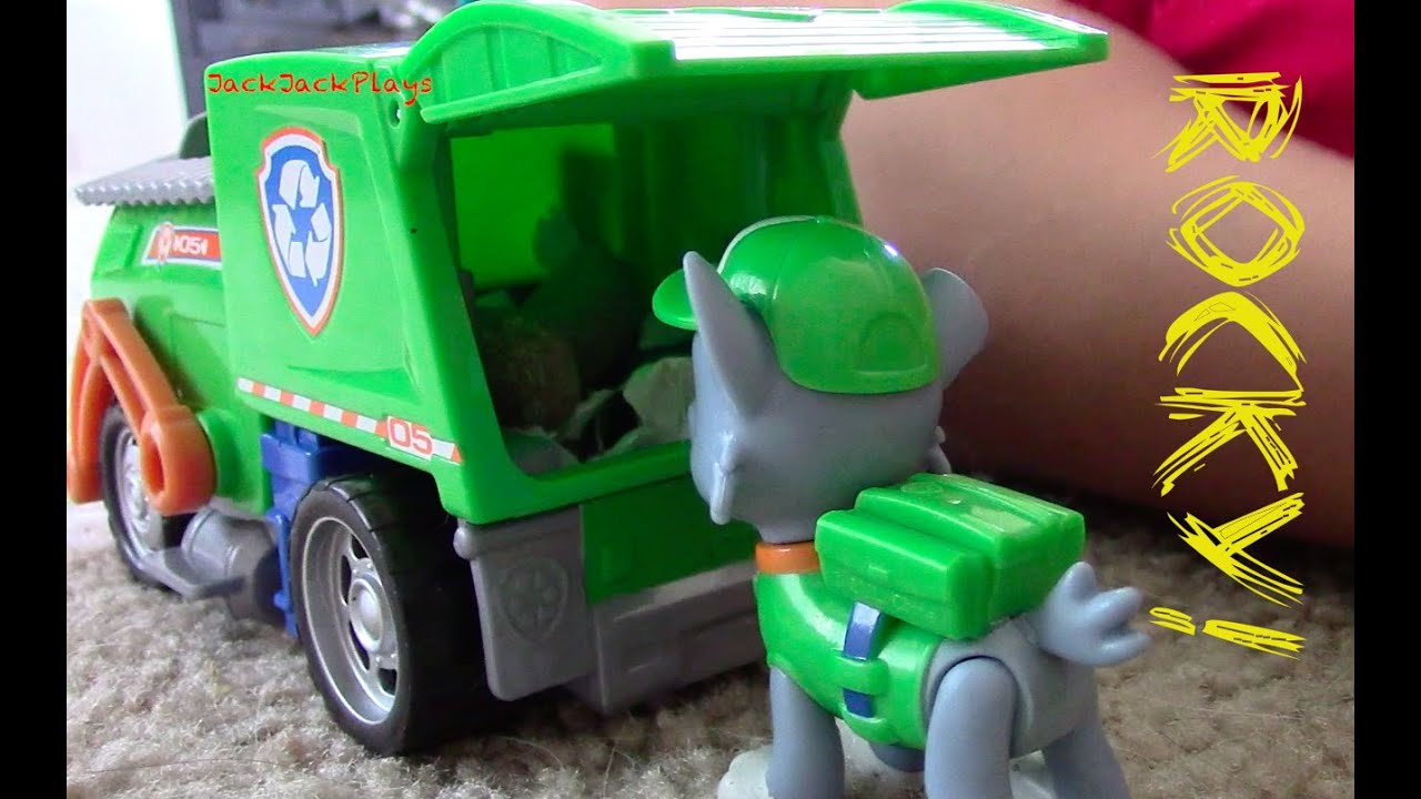 Paw Patrol Rocky Recycling Truck Toy Garbage Truck Unboxing With Jackjackplays Youtube