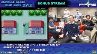 AGDQ 2013 Bonus Stream - Pokemon Fire Red Round 2 Speedrun #SavetheStream