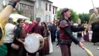 Avec Betty et Claude à la fête médiévale de St Bertrand de Comminges le 24/07/11