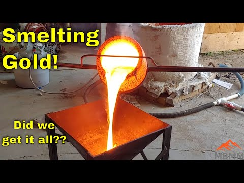 Smelting and Refining Gold From Tailings