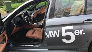 BMW 5 series 2017 Bluestone + cognac interior 1/3 [WALK AROUND]