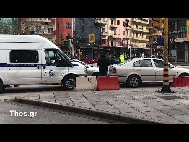 Έλεγχοι της αστυνομίας στο κέντρο της Θεσσαλονίκης