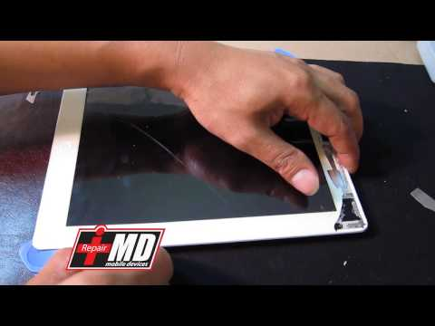 iPad 2, 3 & 4 glass and digitizer repair with a rip cord for future fix