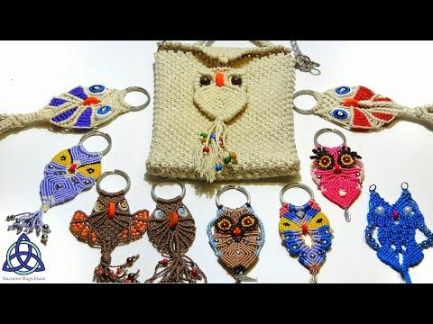 Macrame Owl Family