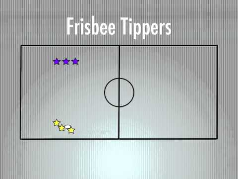 Physical Education Games - Frisbee Tippers