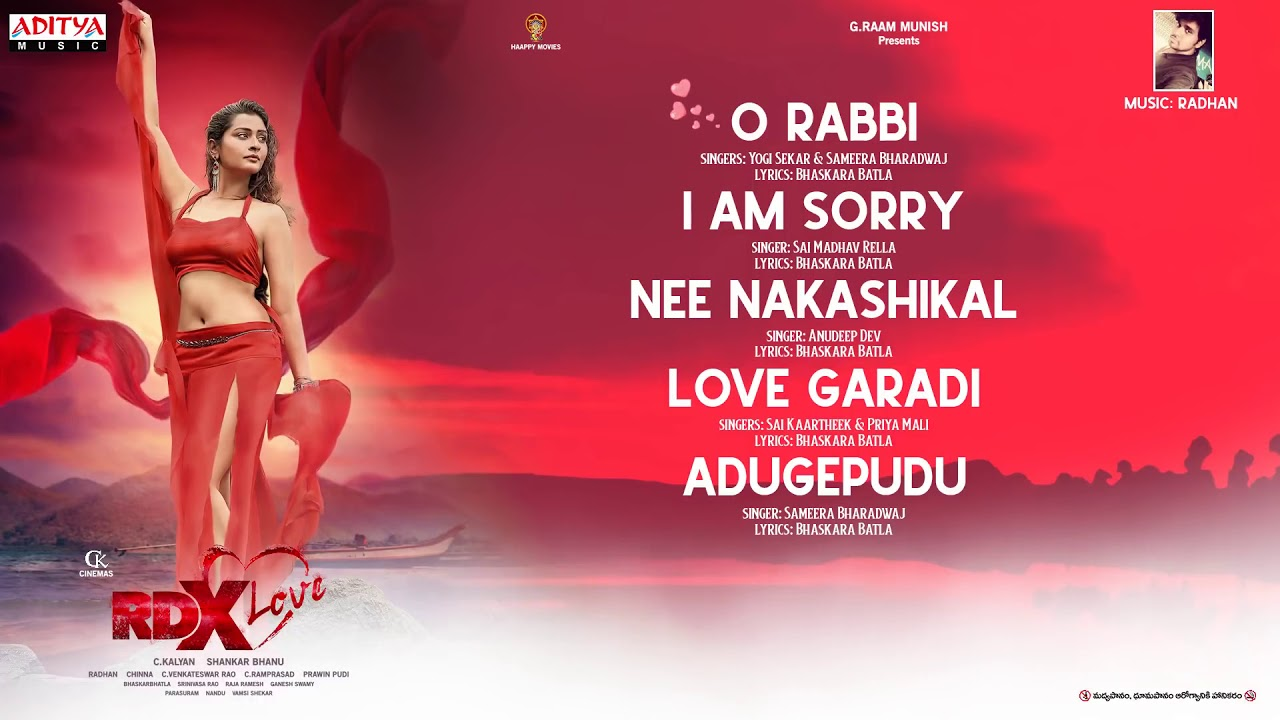 RDX Love Full Songs Jukebox || Paayal Rajput, Tejus Kancherla, C Kalyan || Haappy Movies