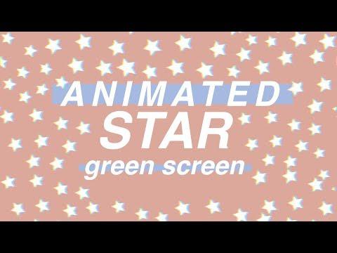 ★ANIMATED STARS GREEN SCREENS ★