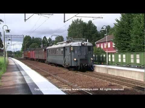 Vintage train on Roslagsbanan, Stockholm