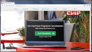 iPhone verwalten ohne iTunes: CopyTrans Control Center am PC installieren