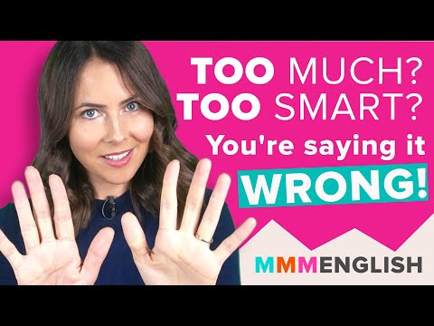 How To Use TOO   Stop Making This Common Mistake in English!