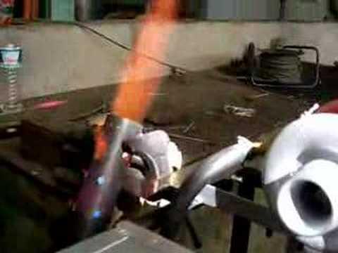 gas turbine Burner by PZX test University Of West Macedonia
