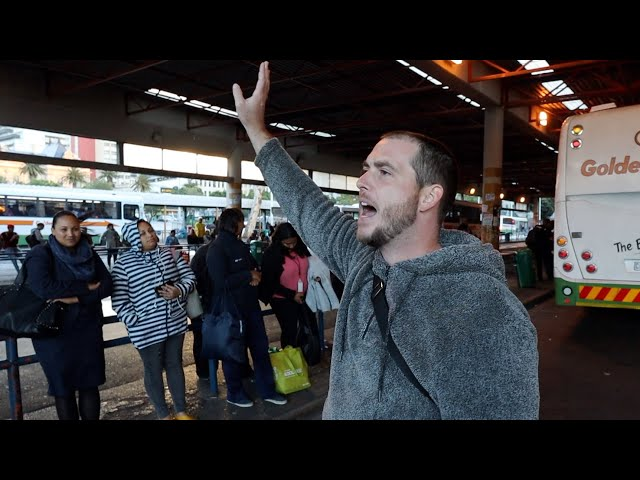 Confronting South African societal issues during bus stop preaching