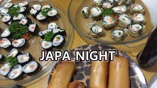 Uma noite comigo: Fizemos japonês! Deu certo?! ♡Laura Gromann