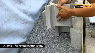 Stavoblock montáž 2. - Založení opěrné stěny
