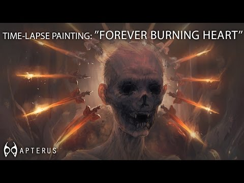 Speed painting: ''Forever burning heart''