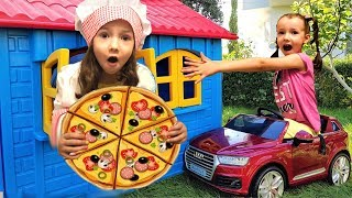 Ulya Pretend Play House Bought Pizza - Funny story for kids