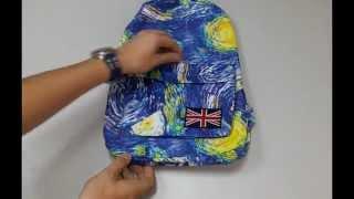 Обзор городского рюкзака Галактика Ван Гога(Стильный молодежный рюкзак с необыкновенно красивой палитрой голубого цвета практичный и достаточно..., 2015-10-19T16:23:53.000Z)