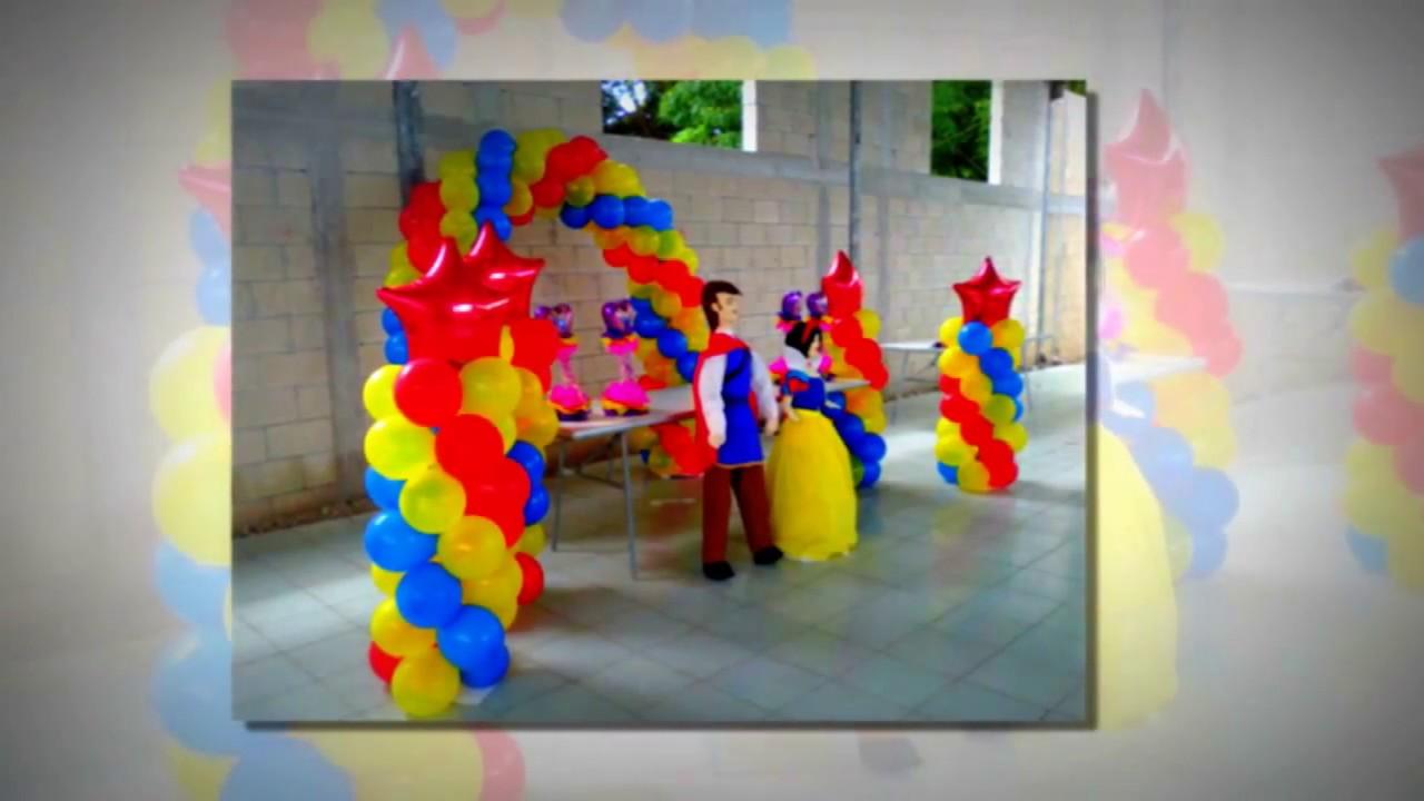 Decoraciones para fiestas infantiles youtube for Decoraciones para fiestas
