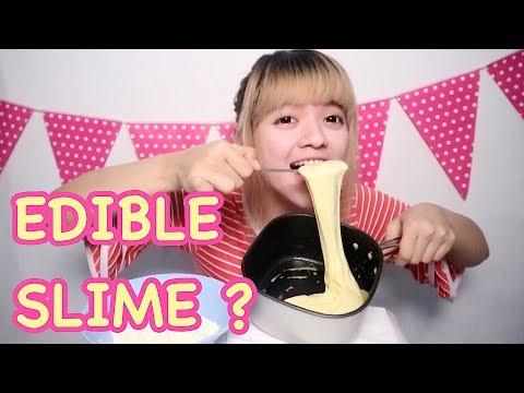 yummy ! MAKAN SLIME ENAK BANGET - EDIBLE SLIME SIMPLE EASY [ NO GLUE NO BORAX etc ] INDONESIA