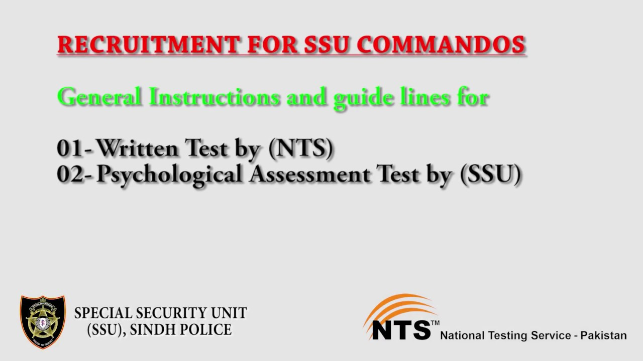 Guidance of written Test & psychological assesment test 03 03 2018