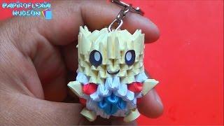 Origami 3D Llavero de togepi