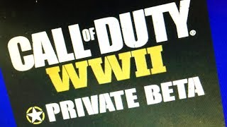 CALL OF DUTY WWII PRIVATE BETA Gameplay (First Try)