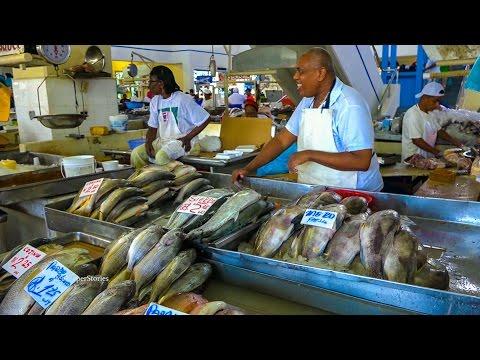 Panama Food. Mercado de Mariscos, Seafood Market