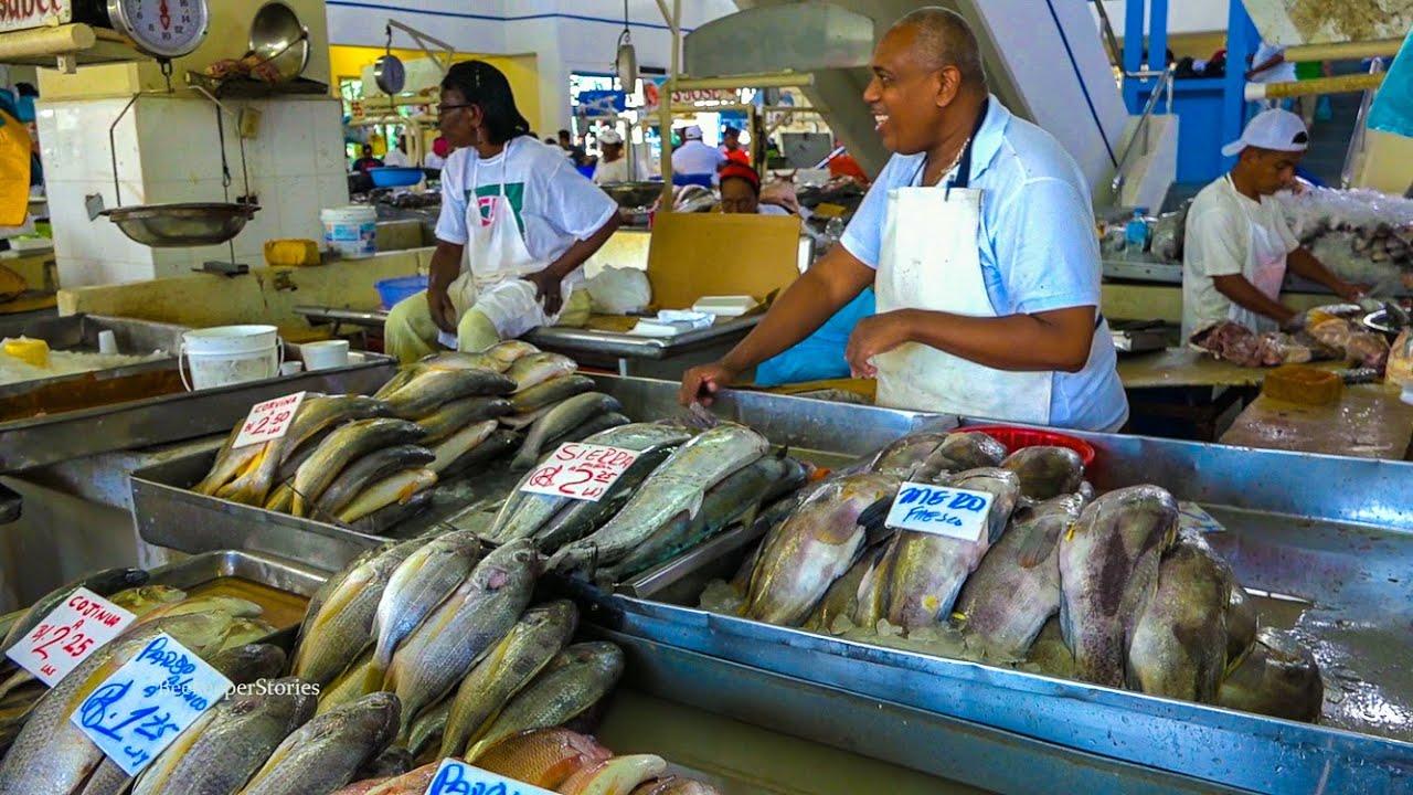 Panama food mercado de mariscos seafood market youtube for Fresh fish market los angeles
