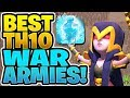 THREE TH10 3 STAR WAR ARMIES! - How to 3 Star in War! - Clash of Clans