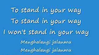 CHESTERSEE -WHO AM I TO STAND IN YOUR WAY (ENGLISH AND INDO) LYRICS