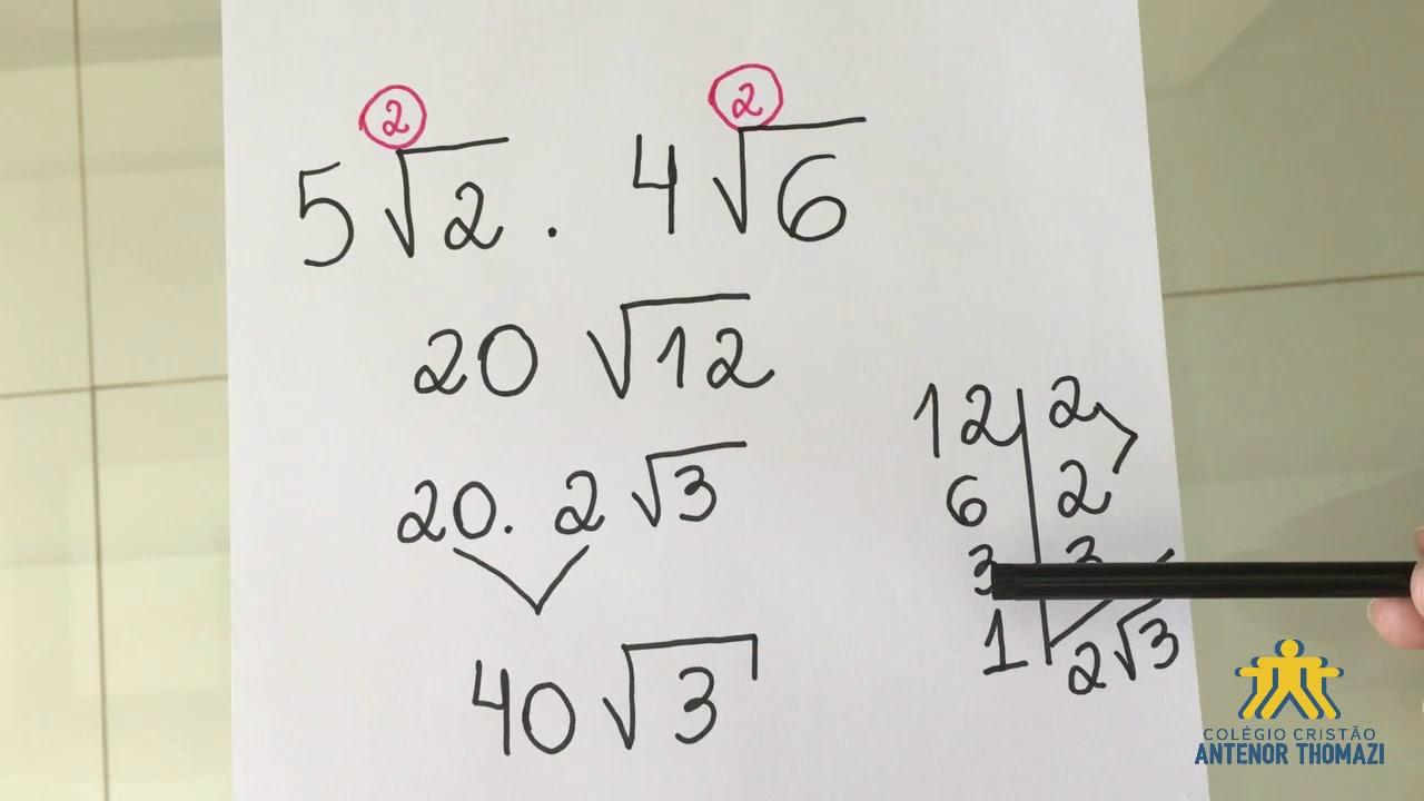 13/04 - MATEMÁTICA: Multiplicação com racionais de mesmo índice