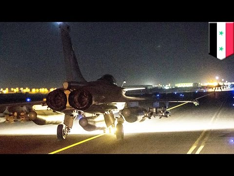 French airstrike in Syria: fighter jets bomb ISIS headquarters after Paris attacks- TomoNews